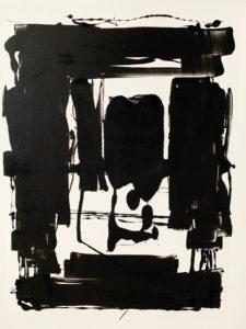 Pamela Dove Art Black and White Monotype Print Safe Inside