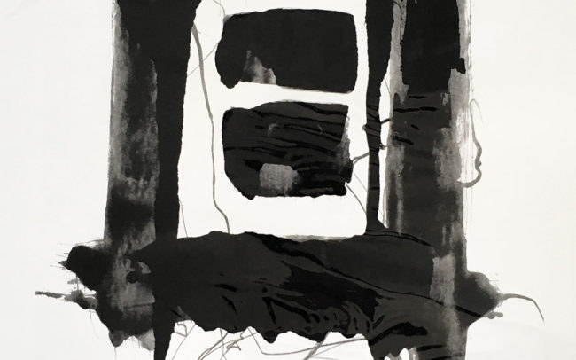 Pamela Dove Art | Inside the Dark 2019 Monotype Print